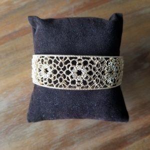 NWT LOFT Gold Filigree Cuff Bracelet